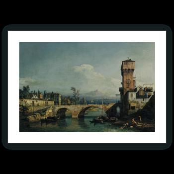 Vista idealizada en torno a Padua