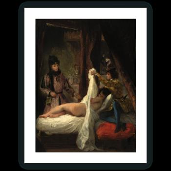 El Duque de Orleans mostrando a su amante