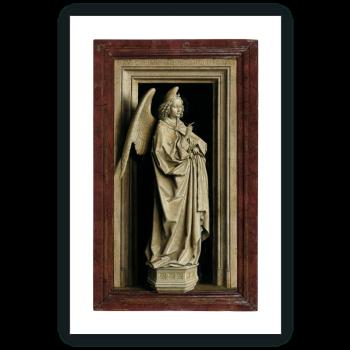 Díptico de la Anunciación: El Arcángel San Gabriel (tabla izquierda)