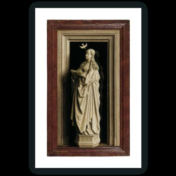 Díptico de la Anunciación: La Virgen María (tabla derecha)