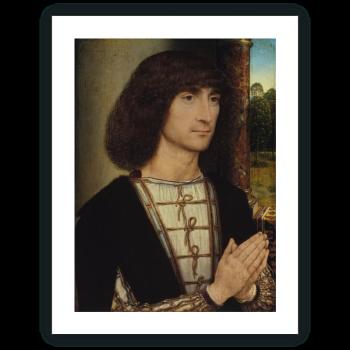 Retrato de un hombre joven orando (anverso)