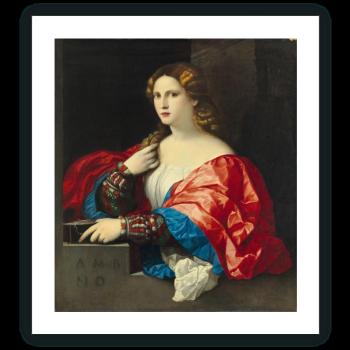 Retrato de una mujer joven llamada La Bella