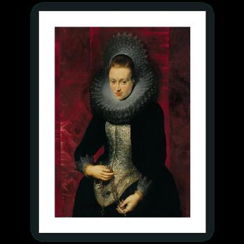 Retrato de una joven dama con rosario