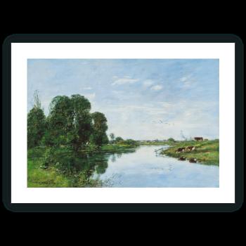 El río Touques en Saint-Arnoult