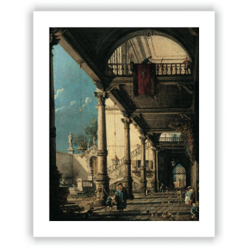 Capricho con columnata en el interior de un palacio