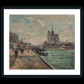 El puente del Palacio del Arzobispado y el ábside de Notre-Dame de París