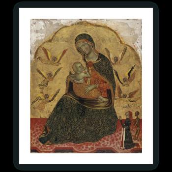 Virgen de la Humildad con ángeles y un Donante