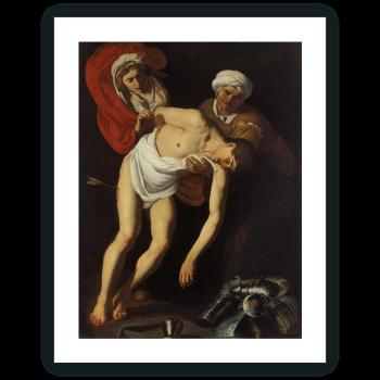 San Sebastián atendido por Santa Irene y su criada