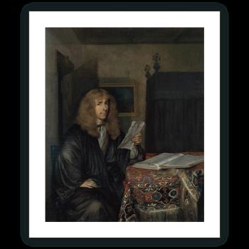 Retrato de un hombre leyendo un documento