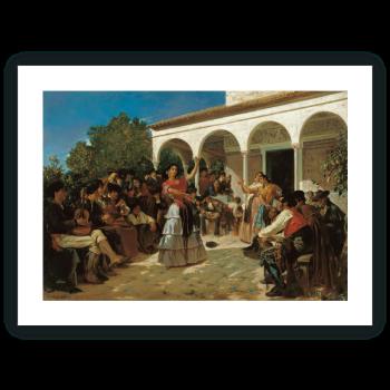 Un baile de gitanos en los jardines del Alcázar, delante del pabellón de Carlos V