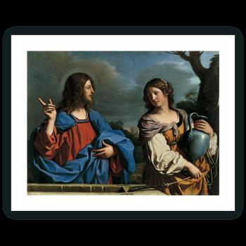 Jesús y la Samaritana en el pozo