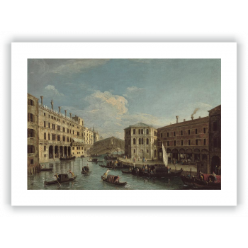 El Gran Canal y puente de Rialto, Venecia, vistos desde el norte