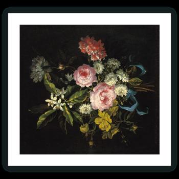 Ramo compuesto por manzanilla, rosas francesas y otras flores