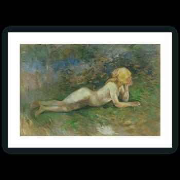 Pastora desnuda tumbada