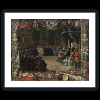 La entrega del bastón de Capitán General a Antonio de Moncada