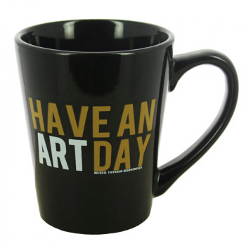 Taza negra Have an art day