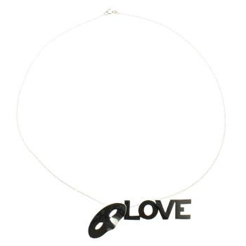 Colgante de plata Love, Love, Love