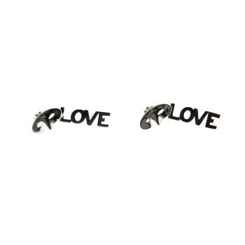 Pendientes de plata Love, Love, Love