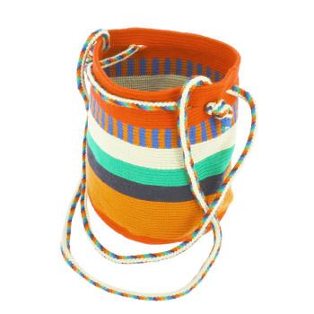 Bolso pequeño Wayuu La portuguesa de Delaunay color rojo, naranja y azul