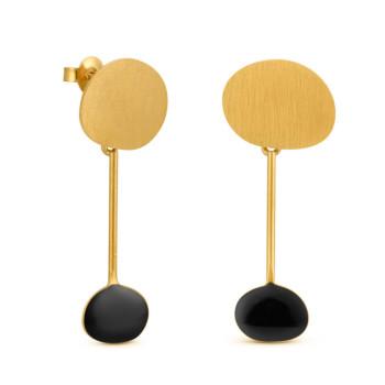 Pendientes negros Miró