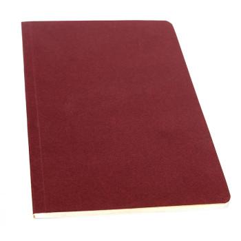 Libreta rojo burdeos páginas color mostaza