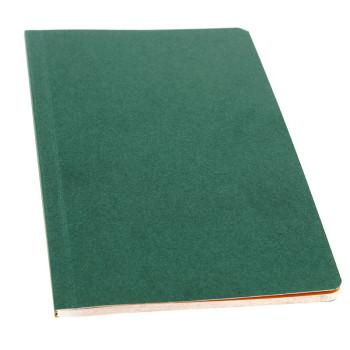 Libreta verde páginas naranja