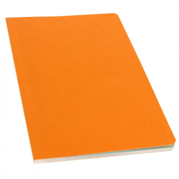 Libreta naranja páginas celeste