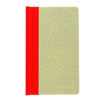 Cuaderno de cartón rojo