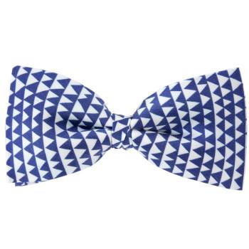 Pajarita de seda Delaunay azul y blanco