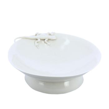 Plato de porcelana Vaso Chino Lagartija Yukiko