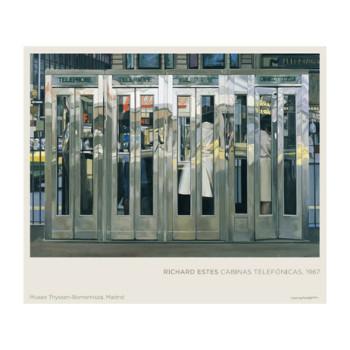 Póster Richard Estes: Cabinas telefónicas