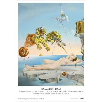 Póster Salvador Dalí: Sueño causado por el vuelo de una abeja alrededor de una granada un segundo antes de despertar