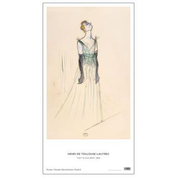 PósterYvette Guilbert de Toulouse-Lautrec.