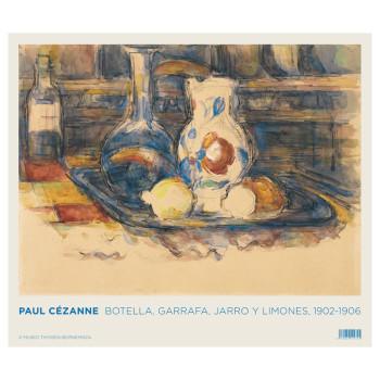 Poster  Paul Cezanne: Botella, garrafa y limones