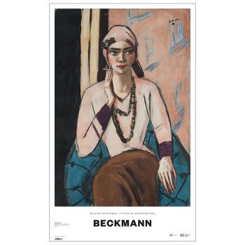 Póster Beckmann Quappi con suéter rosa