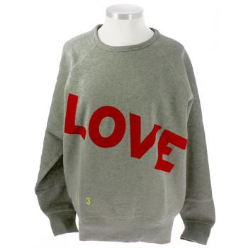 Sudadera Love, Love, Love burdeos