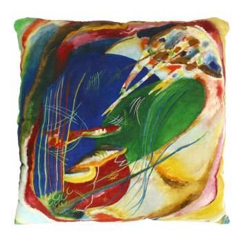 Funda de cojín Kandinsky: Pintura con tres manchas, n.º 196