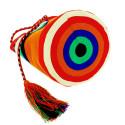 small Bolso grande Wayuu La portuguesa de Delaunay color rojo, naranja y azul 1