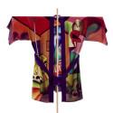 small Kimono corto seda pintado a mano 1
