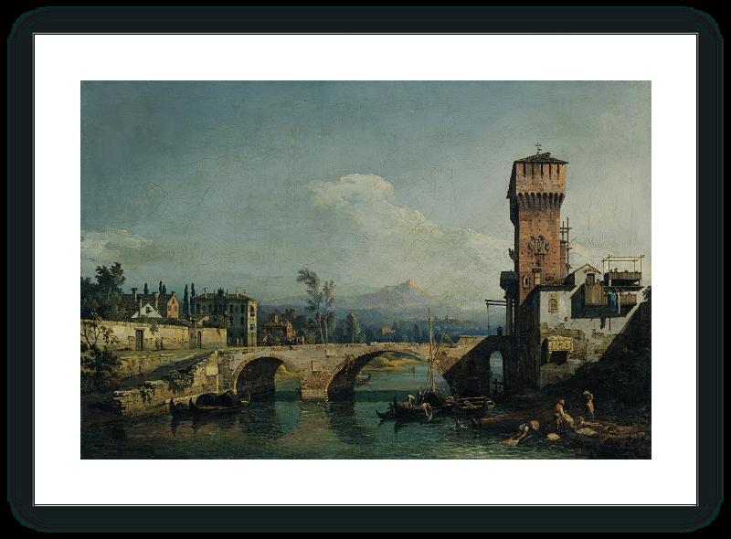 zoom Capriccio with a River and Bridge
