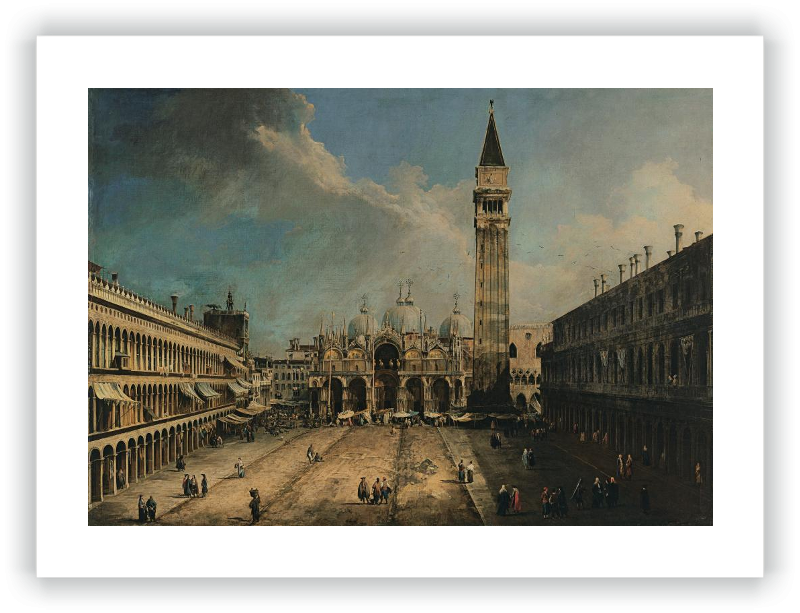 zoom Vista de la Plaza San Marco en Venecia
