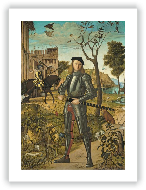zoom Young Knight in a Landscape