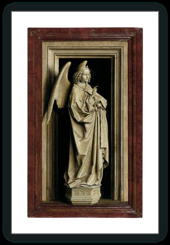 "zoom The Annunciation Diptych """"Archangel"""""