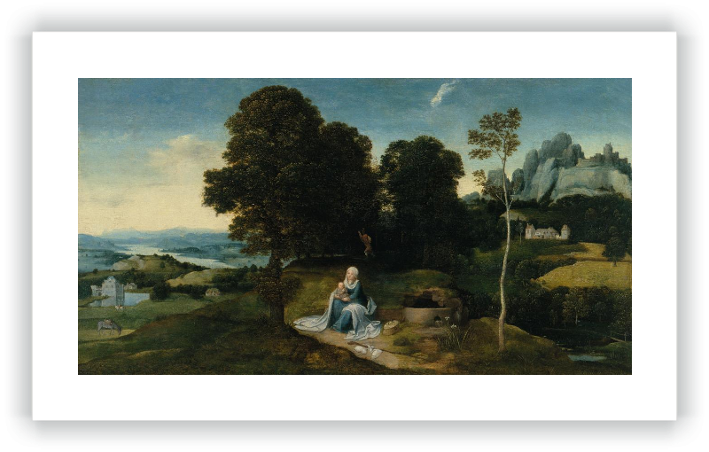 zoom Landscape with the Rest on the Flight into Egypt