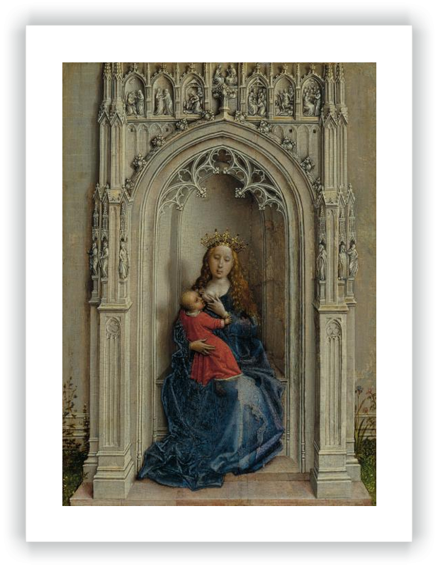 zoom The Virgin and Child enthroned
