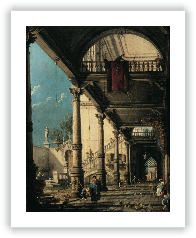 zoom Capriccio with Colonnade in the Interior of a Palace