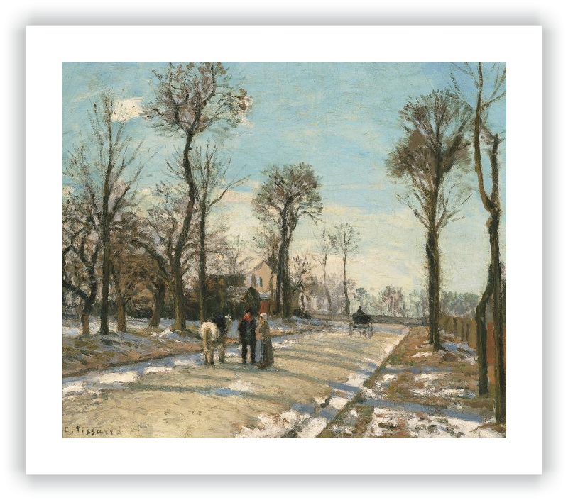 zoom Route de Versailles, Louveciennes, Winter Sun and Snow