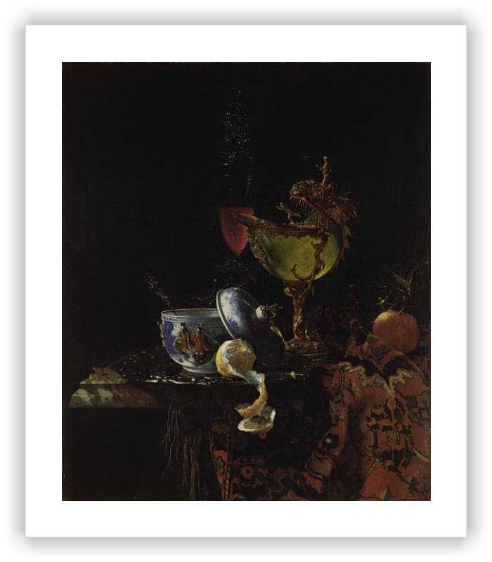 zoom Still Life with a Chinese Bowl, a Nautilus Cup and other Objects