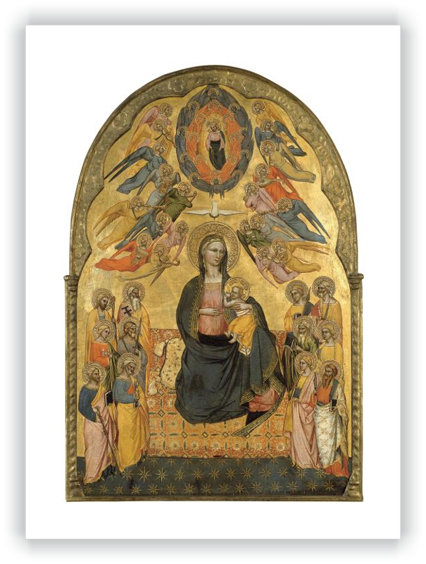 zoom The Virgin of Humility with the Holy Father, the Holy Spirit and the twelve Apostles