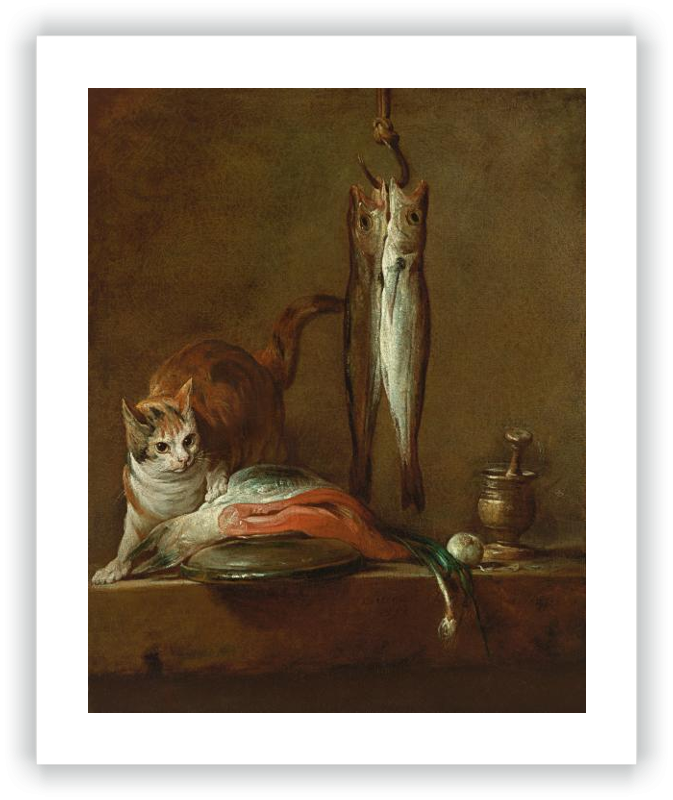 zoom Still Life With Cat and Fish